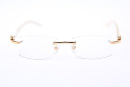 Wholesale 2014 Fashion and beautiful White Buffalo Eyeglasses In Gold or Silver