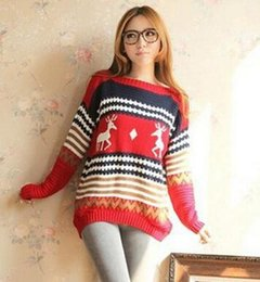 Wholesale New Arrival Hot Women s Ladies Striped Knitted Sweater Pullover Jumper Outwear Tops