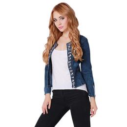 Cheap Ladies Denim Jacket Rhinestones | Free Shipping Ladies Denim
