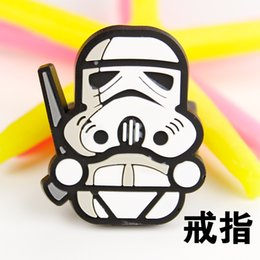 Wholesale 2015 Star Wars silicone Darth Vader Yoda Black knight Rings Star War Toy doll Children
