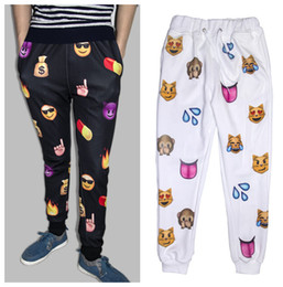 Wholesale 2014 new arrive emoji joggers men women jogging pants print cartoon emoji fashion gym running sport sweatpants men joggers pants