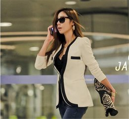 Wholesale Autumn and Winter Women Suits Slim Coat Casual blazers and Jackets One Button Suit OL Outerwear ladies blaser mulheres