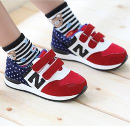 Wholesale Unisex Toddler Girls Boys Sporting Athletic Shoes Autumn Casual Stars Magic Tape Children Kids Footwear Rose Blue Red T K1574