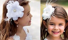 Wholesale New Flower Girl Hair Accessories Children Tiaras Fashion Hair Flowers Wedding Dress Accessories Girls Cute Flower Princess Headwear