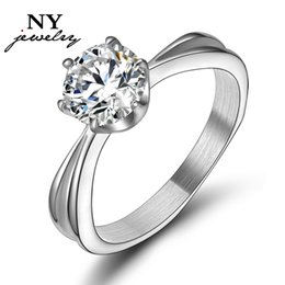 promotion discount wedding rings for women silver 925 plated simulated diamond jewelry gift discount wedding rings women deals - Discount Wedding Rings Women