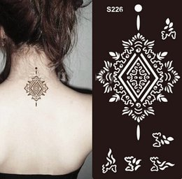 Wholesale Different Temporary Tattoo Stencil Henna Tatoo Paste Template Body Painting Art
