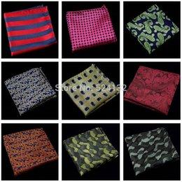 Wholesale 0629 Men Polka Dots Stripe Paisley Camouflage Handkerchief Pocket Square Hanky