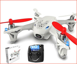 Wholesale-Hot Hubsan Micro X4 2.4GHz 4 Channel Mini Quadcopter UFO FPV H107D 4CH Helicopter with Camera led light avion radiocommande