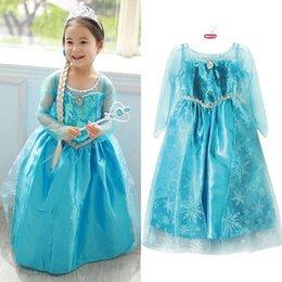 Wholesale Girls Frozen Princess Anna Elsa Cosplay Costume Kid s Party Dresses