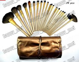 Wholesale Factory Direct Set New Makeup Brushes NO Pieces Brush With Leather Pouch