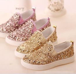 Wholesale 2015 Sequins Boys Girls Rivet Dance Dougs Loafers shoes Gommino Children Kids Slip on Soft Sole Flats Purple Gold Sliver Yard K4804