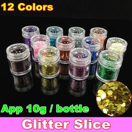Wholesale Glitter Slice For Nail Art Tips In Colours
