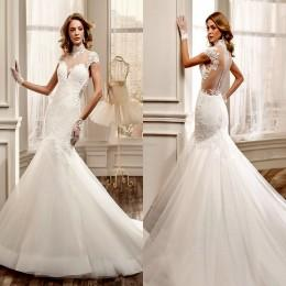 White Wedding Dresses With Color Accents