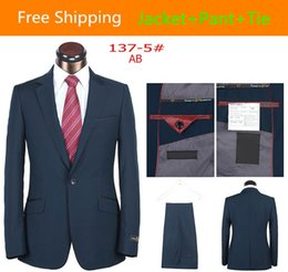 Wholesale 2014 Fashionable Custom Groom Made Tuxedos Men Wedding Dress Prom Clothing Suit One Button Jacket Pants Tie men sequin blazer BA137