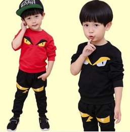 Wholesale baby boy clothes boys set cool Monster Cotton Sets childrens clothing Autumn Kid set Cartoon Sport Outfits F104