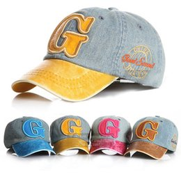 Wholesale Cool New Fashion Cowboy Kid Snapback Hat For Child Baseball Cap Kid Hat G Letters Pattern Child Hat For Boy Baseball caps Cheap z