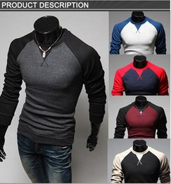 Wholesale 2015 Fashion Men S Sweaters Hombre Mens Sweaters Long Sleeve Raglan Sleeve Slim Sweater Pullover Christmas Sweater
