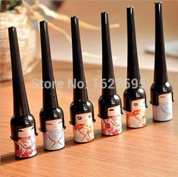 Wholesale 1Pcs Cosmetic Waterproof Liquid Eyeliner Pen Makeup in Cute Bottle Women Beauty Care Eye Liner
