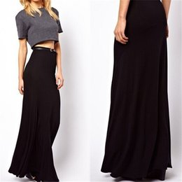 High Waist Slit Maxi Skirt Online | High Waist Slit Maxi Skirt for ...