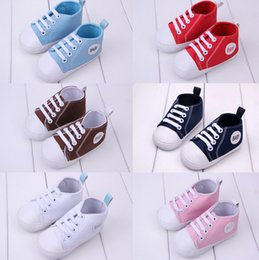 Wholesale Fashion Baby canvas shoes CM neonatal soft bottom casual shoes Cheap toddler shoes baby wear pair