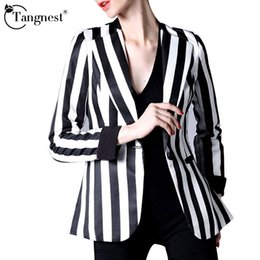 Black And White Striped Womens Blazer | Fashion Ql