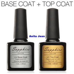 Wholesale Sapphire Diamond Nail Gel Top Coat Top it off Base Coat Foundation for UV Gel Polish Best on Aliexpress ml