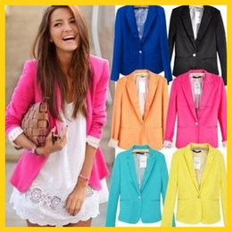 Wholesale 2014 blazer women suit blazer foldable brand jacket made of cotton spandex with lining Vogue refresh blazers AAAAA