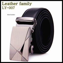 Wholesale 2014 Newest Belt Belts for men Manly Decoration Design pure Cowhide Leather Automatic Buckle belts Mens Belts LY