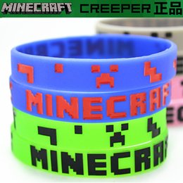 Wholesale My world bracelet minecraft Creeper silicone bracelet wristband JJ strange fear coolie creeper