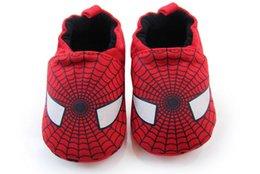 Wholesale Baby Infant Fist Walker Shoe Toddler Cotton Shoes with Soft Anti Slip Bottom Elastic Heel Never Fall Spider Man Spiderman
