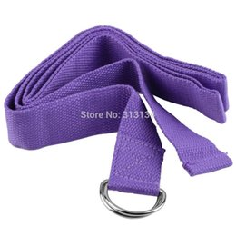 Wholesale 1 High Quality Yoga Stretch Strap D Ring Belt Figure Waist Leg Fitness Exercise Gym resistance band