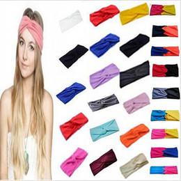 Wholesale Women Stretch Twist Headband Turban Sport Yoga Head Wrap Bandana Headwear Hair Accessories
