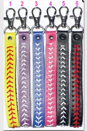 Wholesale 2015 baseball keychain fastpitch softball accessories baseball seam keychains