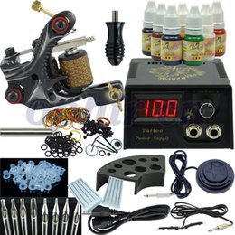 Wholesale OPHIR New Beginner Rotary Tattoo Machine Kit Ink Set Equipment Power Supply One Machine TA002
