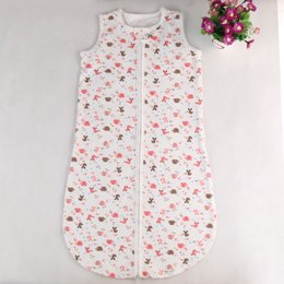 Wholesale Baby Sleeping Bag Pajamas Infants Spring Thin Soft Cotton Childrens Comfy Vest Sleeping Bag