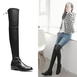 Discount Black Over Knee Boots | 2017 Over Knee Black Leather ...