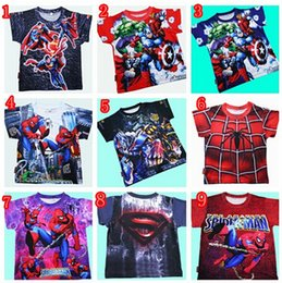 Wholesale The Avengers Kids Short Tshirts Super Heroes Cute Boys Top Tees Children Clothing For yr DHL EMS