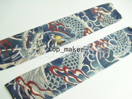 Wholesale tattoo sleeves Nylon Elastic Fake Designs Anti UV Arm Stockings Tattoo Wears Fishing Driving Sleeve