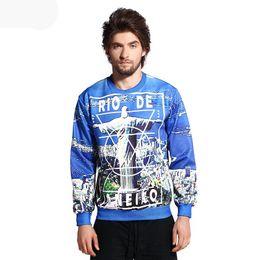 Wholesale w20151222 Classic new style women men d sweatshirt print Rio de Janeiro graphic sweatshirts autumn punk hoodies tops clothing