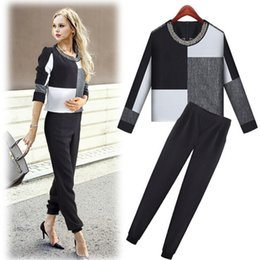 Wholesale Hot Sale New Pencil Pants Black And Plaid Tops Business Suits Formal Office Suits Work Wear Women Clothing Sets