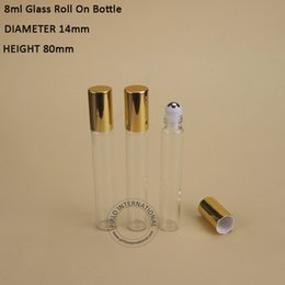Wholesale High Qulity x ml Roll On Bottles For Essential Oil Roll on Refillable Perfume Glass Deodorant Containers Wit Empty Small Packaging