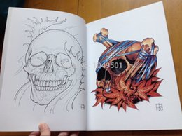 Wholesale Vol you too will die someday A4 size pages damien voss friesz REMEMBER DEATH SKULL TATTOO SKETCH FLASH Tattoo Design SKULL
