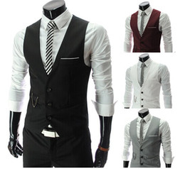 Wholesale Men Vests Outerwear Mens vest Man Casual Suits Slim Fit Stylish Short Coats Suit Blazer Jackets Coats Korean wedding Mens V neck vest