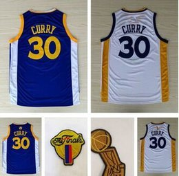 Wholesale HOT Golden State Stephen Curry Jersey High Quality New Rev Embroidery Final Logos Curry Basketball Jerseys Shitts