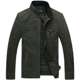 Wholesale spring plus size xl casual jackets men outdoors military style business coat gentleman Cotton jacket D253