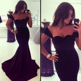 Wholesale New Fashion Sexy Mermaid Royal Blue Black Night Out Club Dresses Long Prom Evening Gowns Sweetheart Backless for Women s Clothing