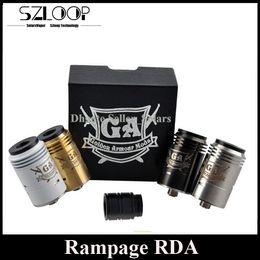 2017 rampage rda DIY Tank Rampage RDA Atomizer Clone 6 Posts Base AFC Feature Dropping Tank Rebuidable 510 Thread DHL Free