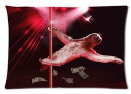 Wholesale Hot Pillow Cover Sloth Bear Stripper Pole Dancing Custom Throw Pillow Case best new year gift x30 inch sides