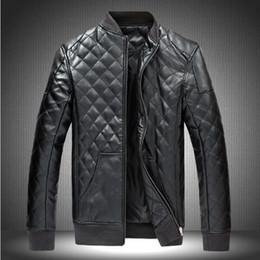 Discount Black Leather Jacket Men Cheap   2017 Black Leather