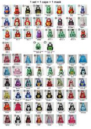 Wholesale PrettyBaby designs children superhero supergirl batman captain america robin transformer cape and mask sets children christmas gifts